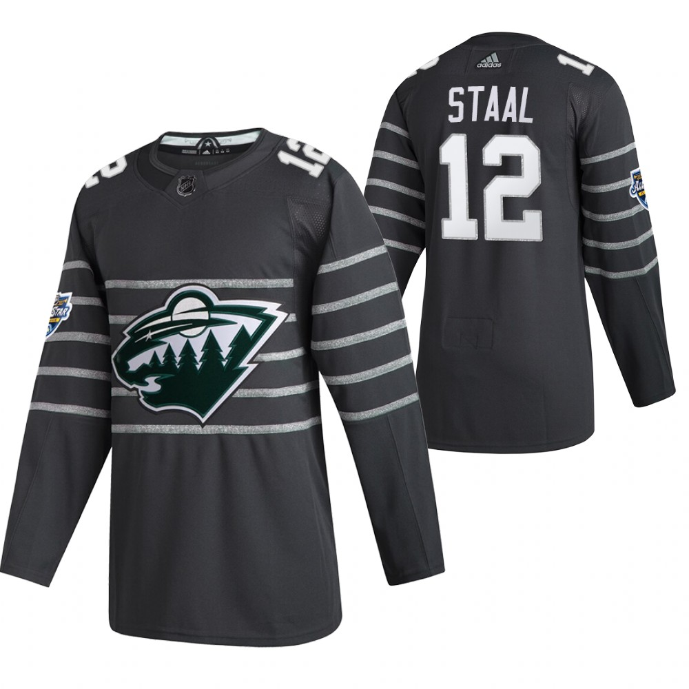 Men's Minnesota Wild #12 Eric Staal 2020 Grey All Star Stitched NHL Jersey