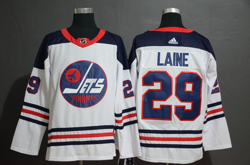 Men's Winnipeg Jets #29 Patrik Laine White Stitched NHL Jersey