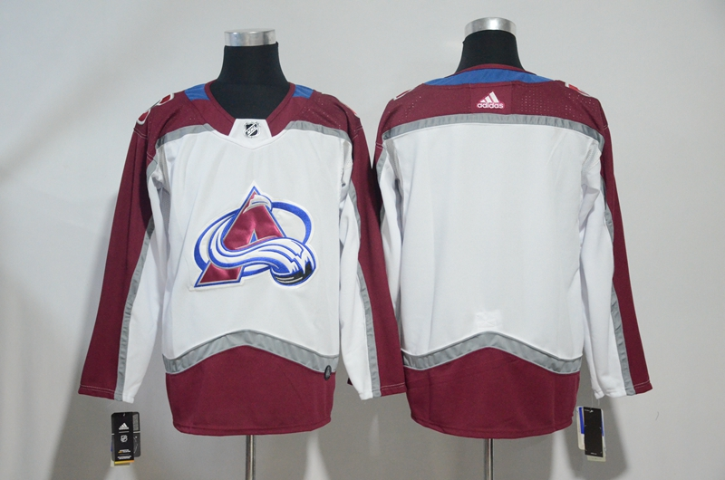 Men's Colorado Avalanche White Stitched NHL Jersey