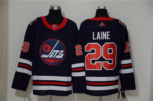 Men's Winnipeg Jets #29 Patrik Laine Navy Stitched NHL Jersey