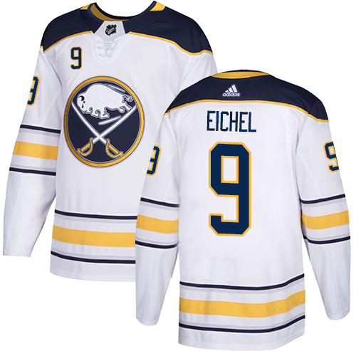 Men's Adidas Buffalo Sabres #9 Jack Eichel White Stitched NHL Jersey
