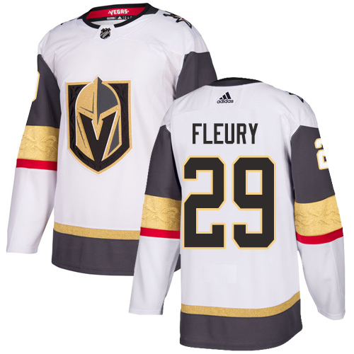 Men's Vegas Golden Knights #29 Marc-Andre Fleury White Adidas Stitched NHL Jersey