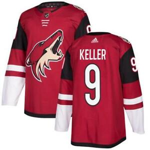 Men's Arizona Coyotes #9 Clayton Keller Burgundy Red 2018 Season Home Stitched NHL Jersey