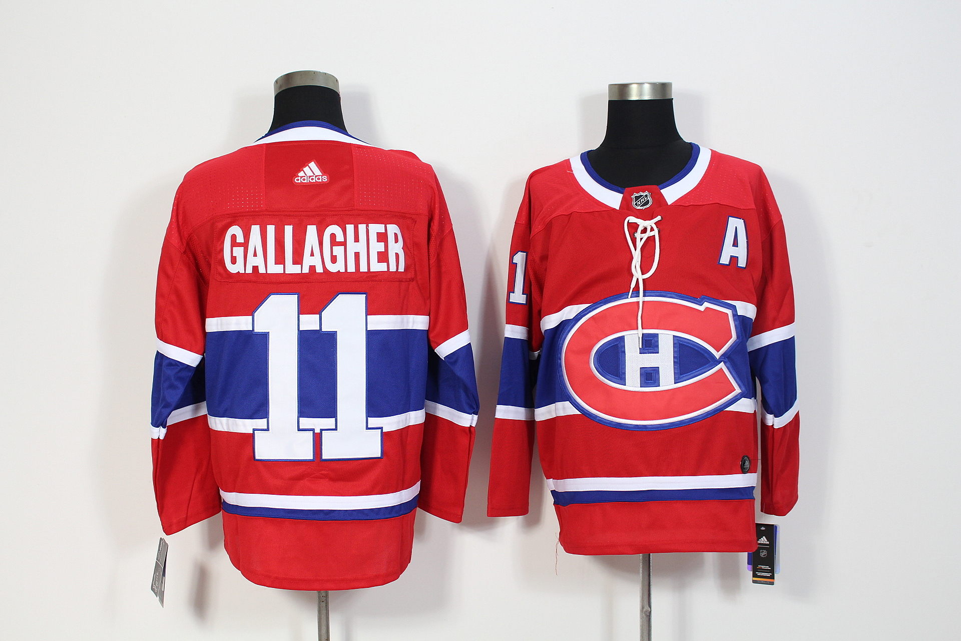 Men's Adidas Montreal Canadiens #11 Brendan Gallagher Red Stitched NHL Jersey