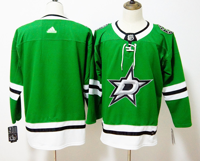 Men's Adidas Dallas Stars Green Stitched NHL Jersey