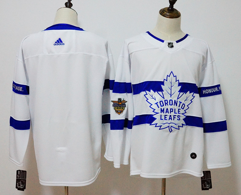 Men's Adidas Toronto Maple Leafs White 2018 NHL Stadium Series Stitched NHL Jersey