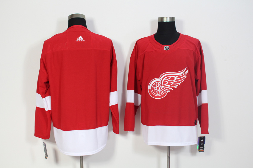 Men's Adidas Detroit Red Wings Red Stitched NHL Jersey