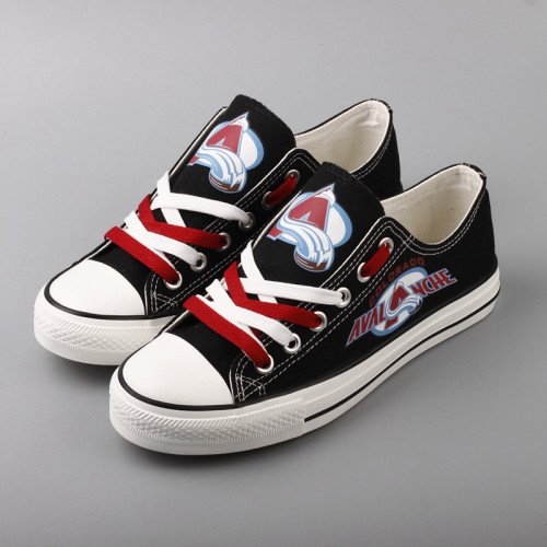 Women And Youth NHL Colorado Avalanche Repeat Print Low Top Sneakers
