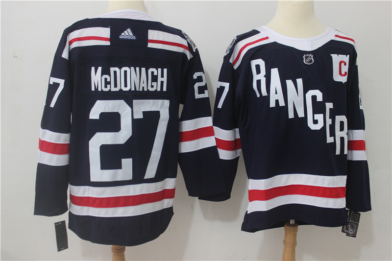 Men's Adidas New York Rangers #27 Ryan McDonagh Navy 2018 Winter Classic Authentic Stitched NHL Jersey