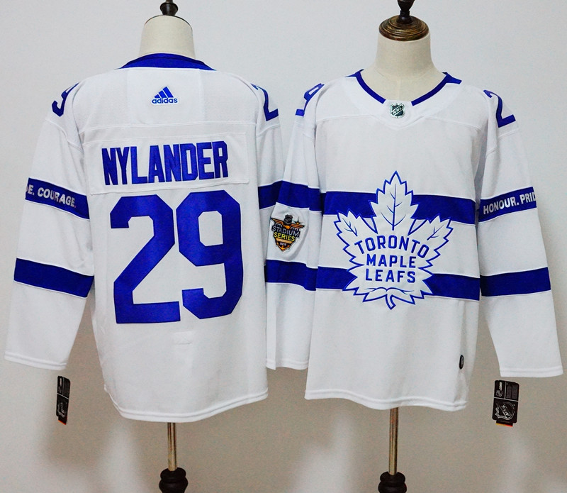 Men's Adidas Toronto Maple Leafs #29 William Nylander White 2018 NHL Stadium Series Stitched NHL Jersey