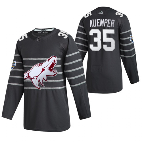 Men's Arizona Coyotes #35 Darcy Kuemper Grey All Star Stitched NHL Jersey