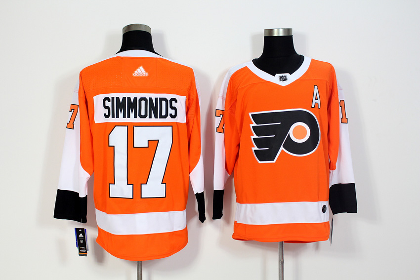 Men's Adidas Philadelphia Flyers #17 Wayne Simmonds Orange Stitched NHL Jersey