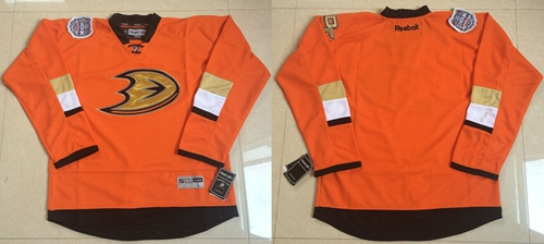 Ducks Blank Orange 2014 Stadium Series Stitched NHL Jersey