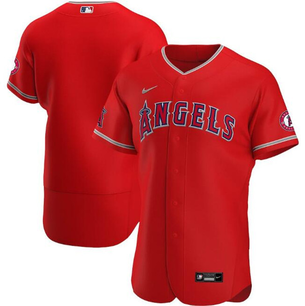 Men's Los Angeles Angels Red Flex Base Stitched MLB Jersey