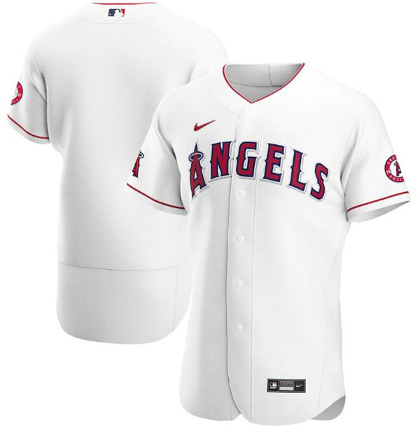 Men's Los Angeles Angels White Flex Base Stitched MLB Jersey