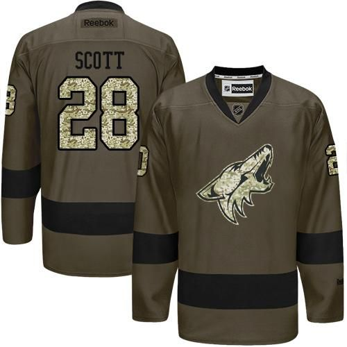 Coyotes #28 John Scott Green Salute to Service Stitched NHL Jersey