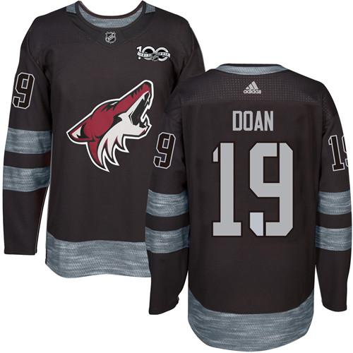 Coyotes #19 Shane Doan Black 1917-2017 100th Anniversary Stitched NHL Jersey