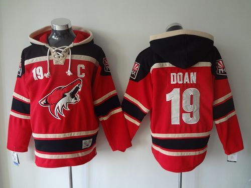 Coyotes #19 Shane Doan Red Sawyer Hooded Sweatshirt Stitched NHL Jersey