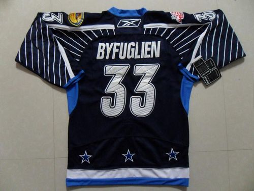 Thrashers #33 Dustin Byfuglien 2011 All Star Stitched Dark Blue NHL Jersey