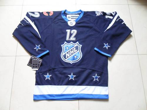 Flames #12 Jarome Iginla 2012 All Star Navy Blue Stitched NHL Jersey