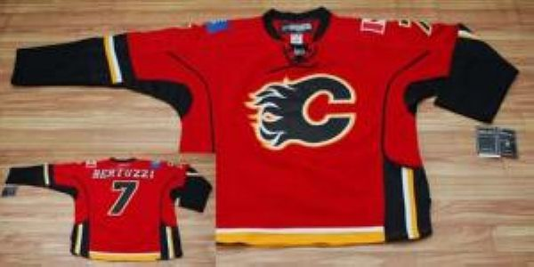 Flames #7 Todd Bertuzzi Stitched Red NHL Jersey