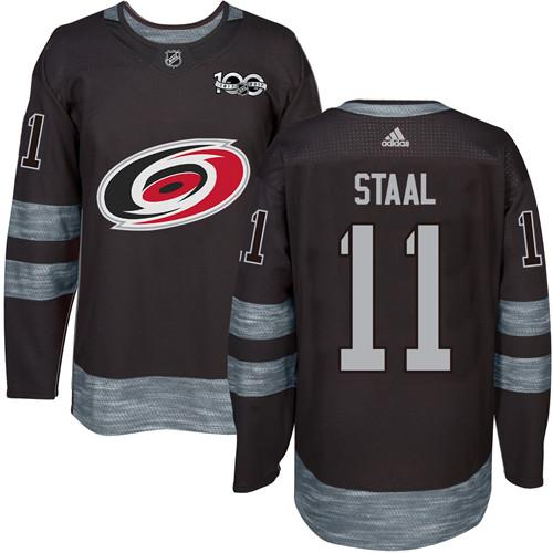 Hurricanes #11 Jordan Staal Black 1917-2017 100th Anniversary Stitched NHL Jersey
