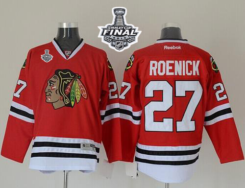 Blackhawks #27 Jeremy Roenick Red 2015 Stanley Cup Stitched NHL Jersey
