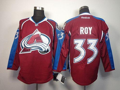 Avalanche #33 Patrick Roy Red Home Stitched NHL Jersey