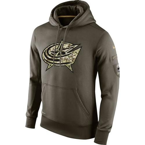 Men's Columbus Blue Jackets Nike Salute To Service NHL Hoodie