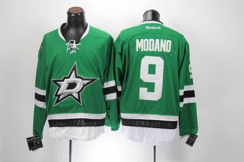 Stars #9 Mike Modano Green Home Stitched NHL Jersey