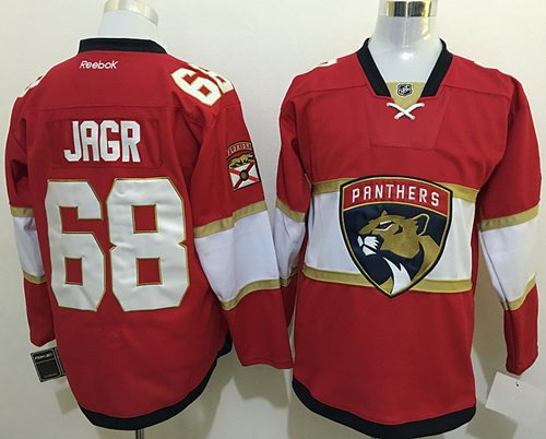 Panthers #68 Jaromir Jagr Red New Stitched NHL Jersey