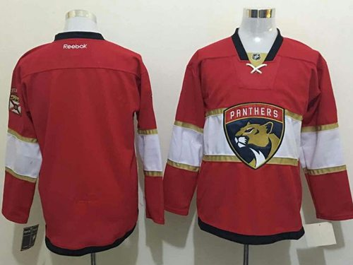 Panthers Blank New Red Stitched NHL Jersey