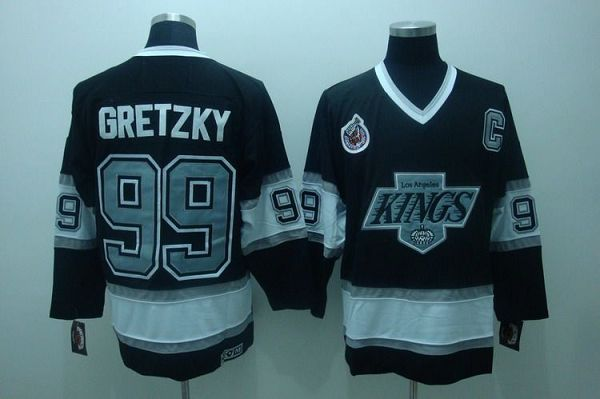 Kings #99 Wayne Gretzky Black CCM Throwback Stitched NHL Jersey