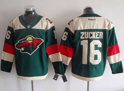 Wild #16 Jason Zucker Green 2016 Stadium Series Stitched NHL Jersey