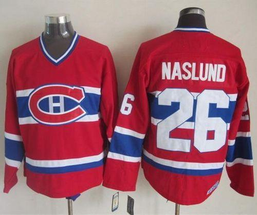 Canadiens #26 Mats Naslund Red CCM Throwback Stitched NHL Jersey