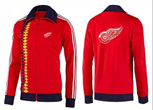 NHL Detroit Red Wings Zip Jackets orange-2