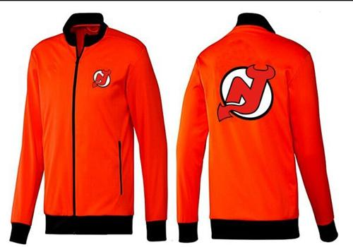 NHL New Jersey Devils Zip Jackets orange-1