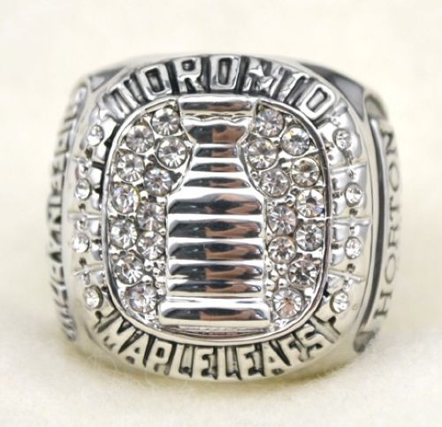 NHL Toronto Maple Leafs World Champions Silver Ring