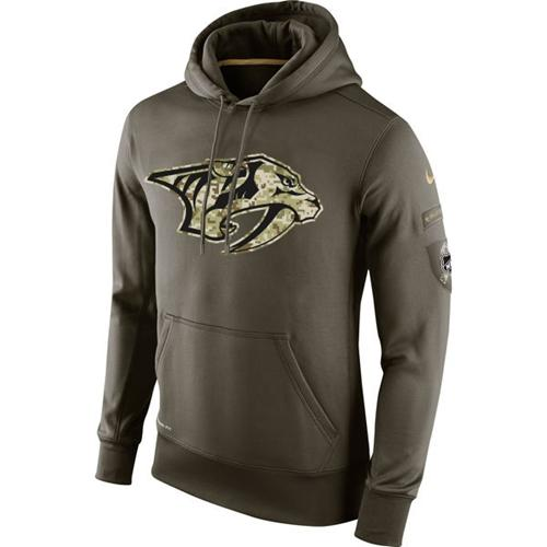 Men's Nashville Predators Nike Salute To Service NHL Hoodie