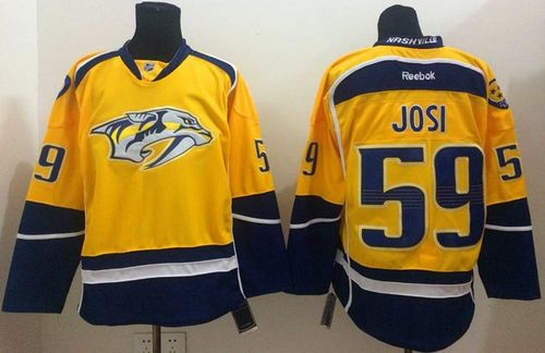 Predators #59 Roman Josi Yellow Home Stitched NHL Jersey