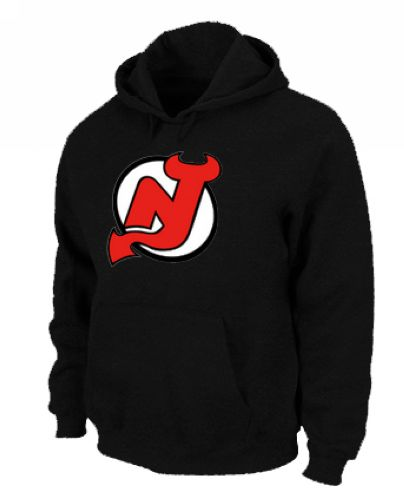 NHL New Jersey Devils Big & Tall Logo Pullover Hoodie Black