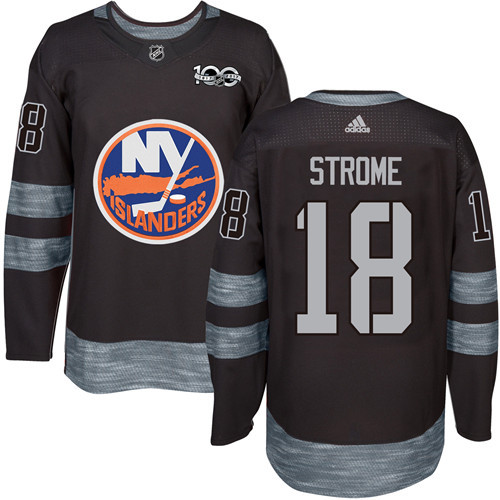 Islanders #18 Ryan Strome Black 1917-2017 100th Anniversary Stitched NHL Jersey