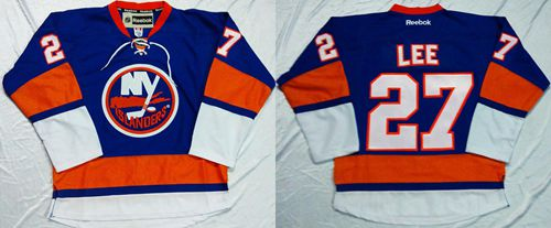Islanders #27 Anders Lee Baby Blue Home Stitched NHL Jersey