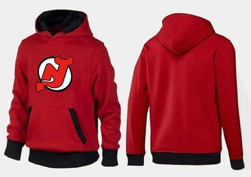 New Jersey Devils Pullover Hoodie Red & Black