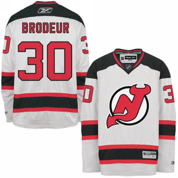 Devils #30 Martin Brodeur Stitched White NHL Jersey