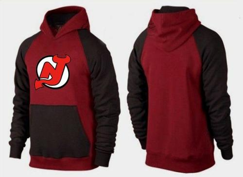 New Jersey Devils Pullover Hoodie Burgundy Red & Black