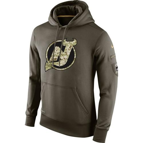 Men's New Jersey Devils Nike Salute To Service NHL Hoodie
