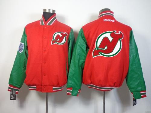 New Jersey Devils Blank Satin Button-Up Red NHL Jacket