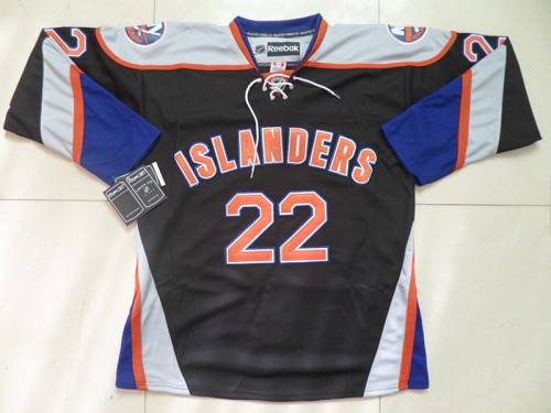 Islanders #22 Mike Bossy Black Third Stitched NHL Jersey