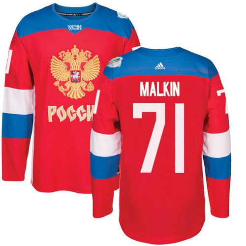 Team Russia #71 Evgeni Malkin Red 2016 World Cup Stitched NHL Jersey